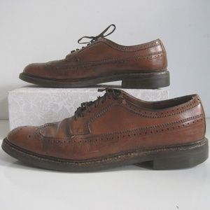 HANOVER Shoes 10.5 Mens Long Wing Tip Derbys VTG